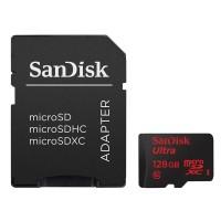 SanDisk Ultra microSDXC 128GB UHS-I Card with Adapter قیمت خرید و فروش کارت حافظه سن دیسک