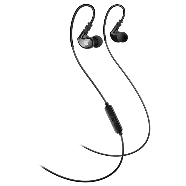 ایرفون ورزشی دارای میکرفون مقاوم در برابر آب می آدیو MEE Audio X1