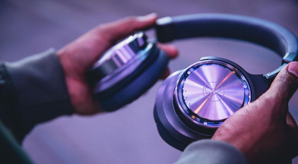هدفون بلوتوث بی سیم وایرلس نویز ایزولیشن آدیو تکنیکا Audio-Technica ATH-DSR9BT