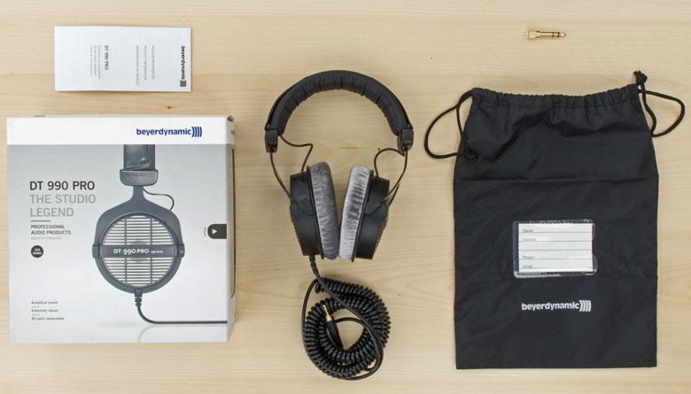محتویات درون جعبه بیرداینامیک DT 990 Pro
